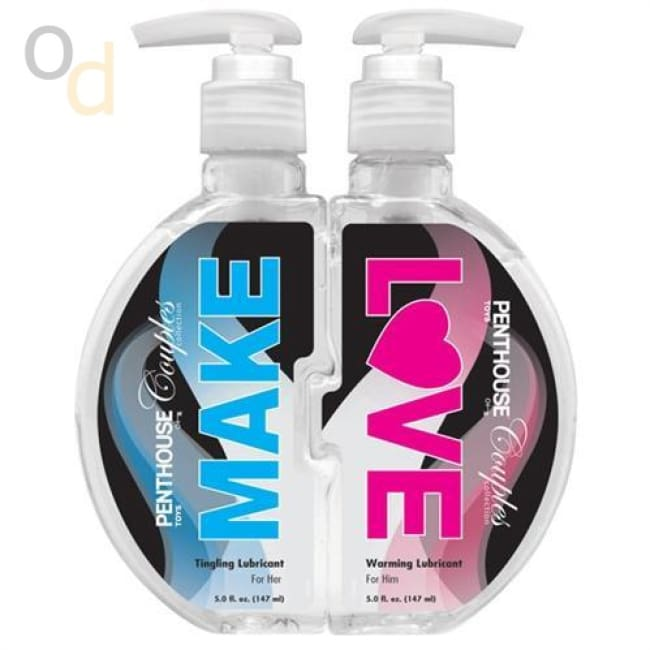 Penthouse Couples Collection - Make Love Warming and Tingling Lubricants - Two 5 Fl. Oz./ 147ml Bottles - Lubricant