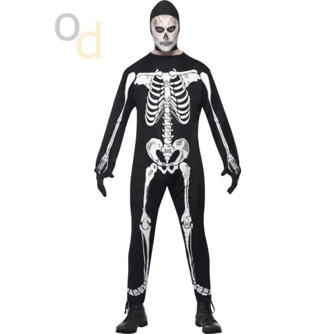 Skeleton Costume Black with Jumpsuit - Costumes