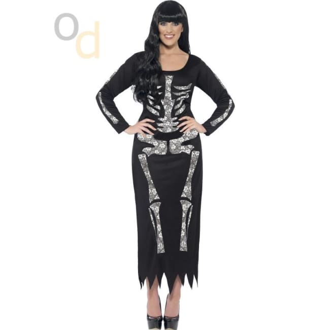 Skeleton Costume Tube Dress - Costumes