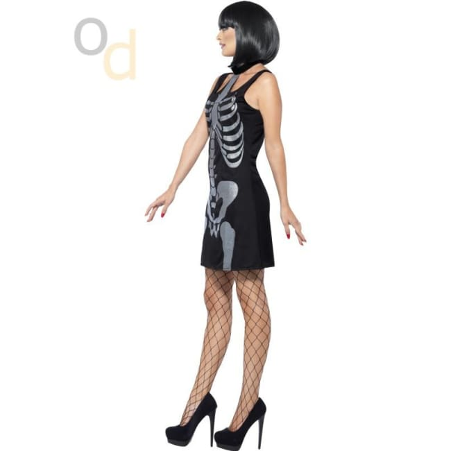 Skeleton Costume with Shift Dress - Costumes