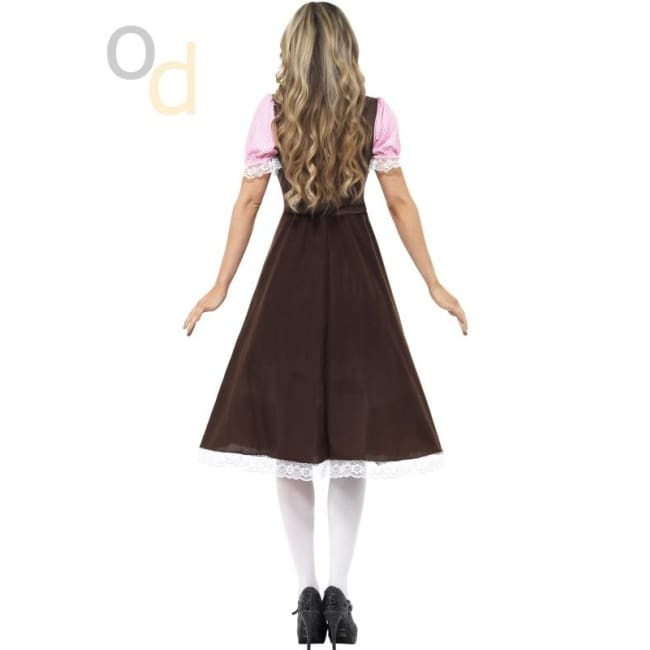Tavern Girl Long Dress Costume - Costumes