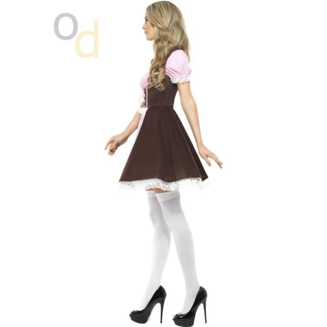 Tavern Girl Short Dress Costume - Costumes