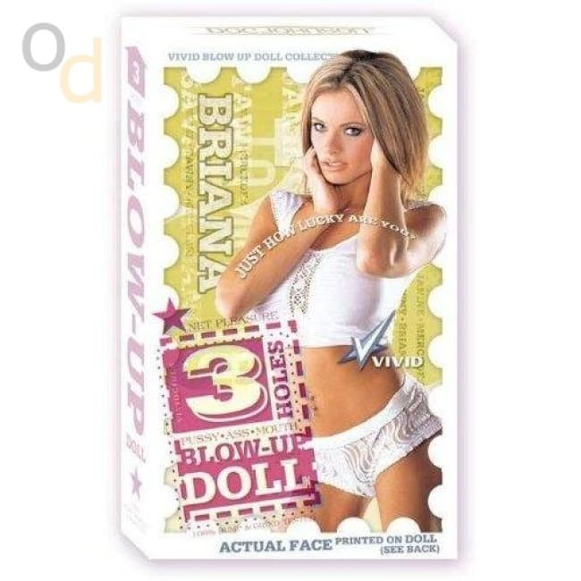 Vivid Superstar Briana 3-Hole Doll With Realistic Face - Love Dolls