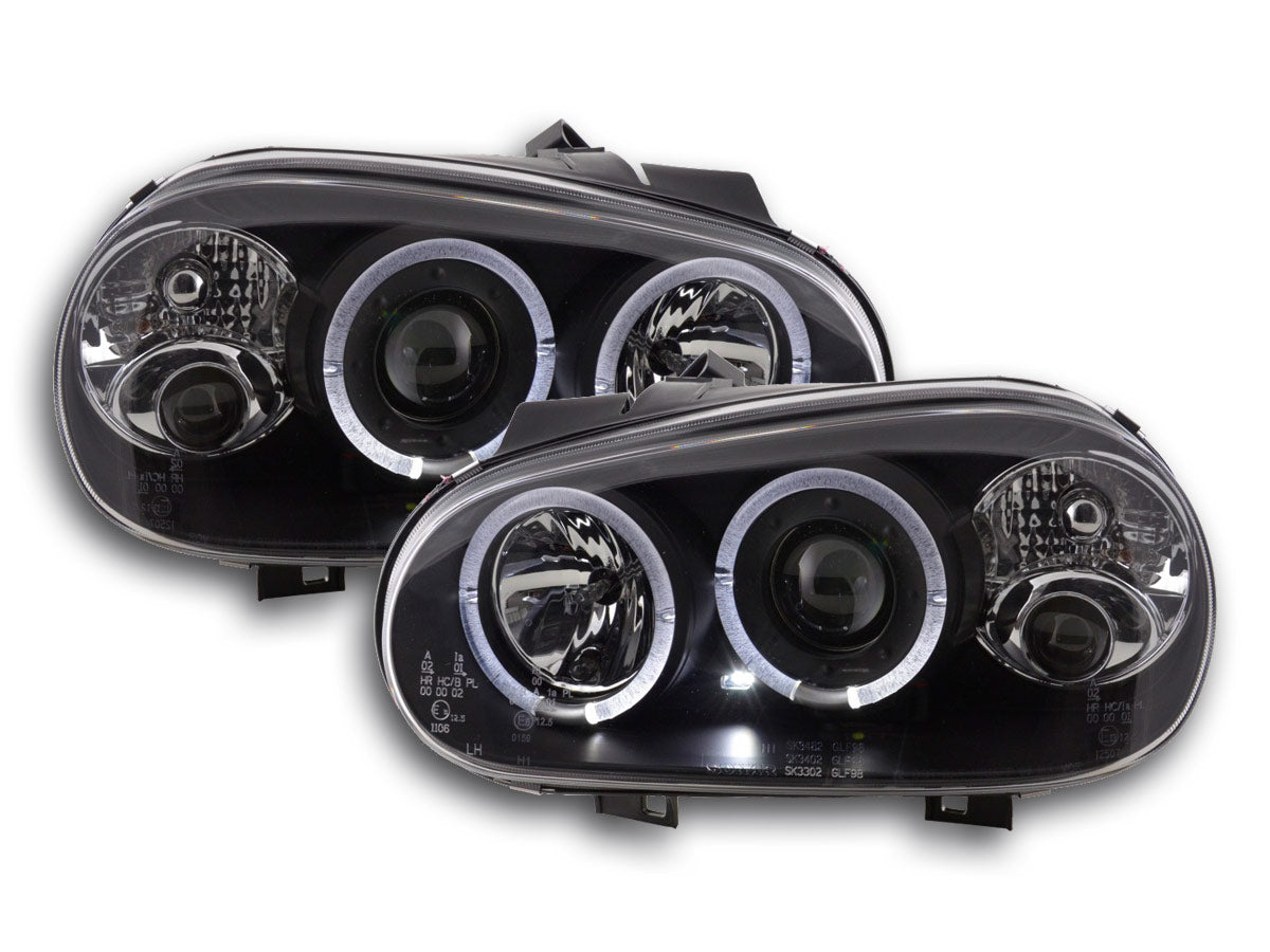 phares Angel Eyes VW Golf 4 type 1J an. 98 03 noir
