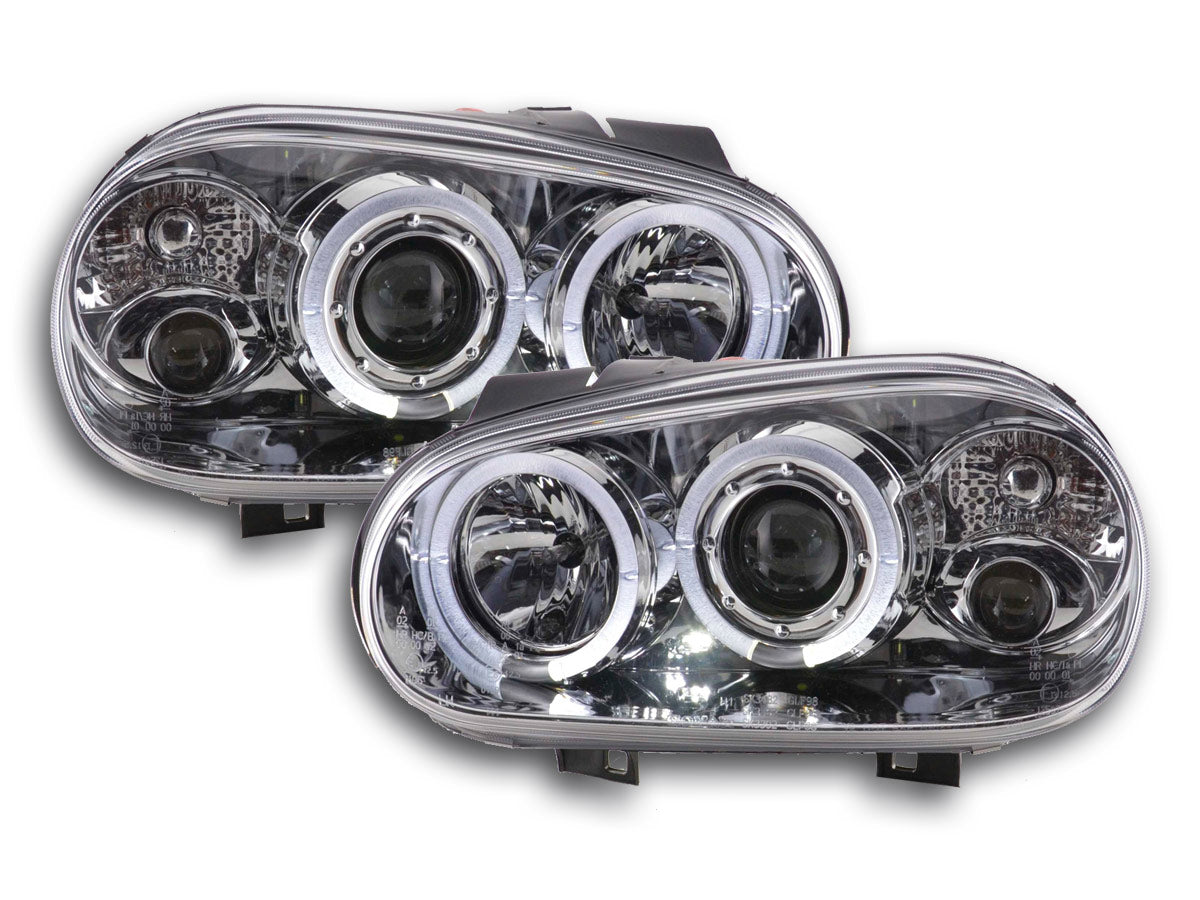 phares Angel Eyes VW Golf 4 type 1J an. 98 03 chrome