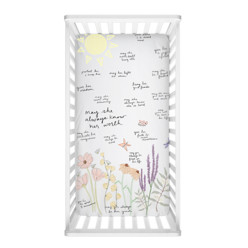 Garden Surrounded By Prayer Crib Sheet- For Her - Aisha Branch Studio Shop