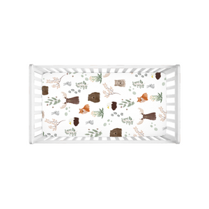 Open image in slideshow, Forest Elements Crib Sheet - Aisha Branch Studio Shop