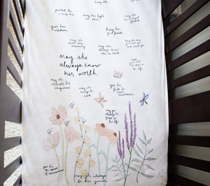 Surrounded By Prayer Girls Crib Sheet