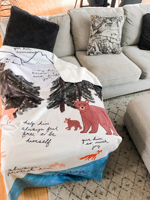 Forest Surrounded By Prayer Blanket For Him - Aisha Branch Studio Shop