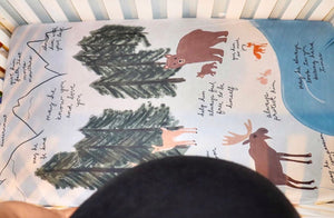 Forest Surrounded By Prayer Crib Sheet - Aisha Branch Studio Shop