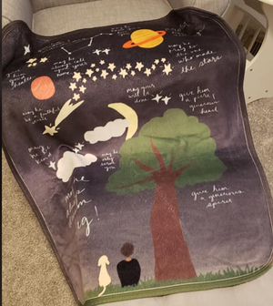 Reach for the Stars Surrounded By Prayer Sherpa Baby Blanket For Him