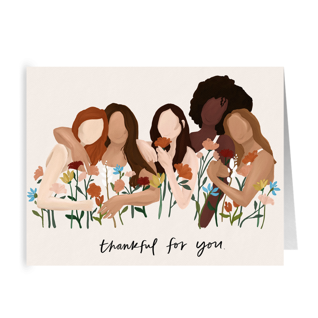 "Growing Sisterhood ""Thankful for You"" Card- 5 Pack"