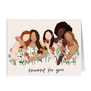 "Open image in slideshow, Growing Sisterhood ""Thankful for You"" Card- 5 Pack"