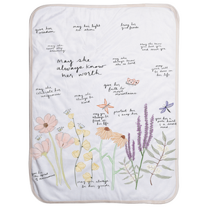 Garden Surrounded By Prayer Sherpa Baby Blanket For Her - Aisha Branch Studio Shop