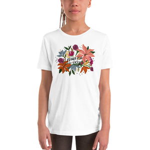 Open image in slideshow, Flourish Wildly Youth Short Sleeve T-Shirt