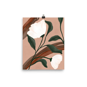 Open image in slideshow, White Floral Art Print