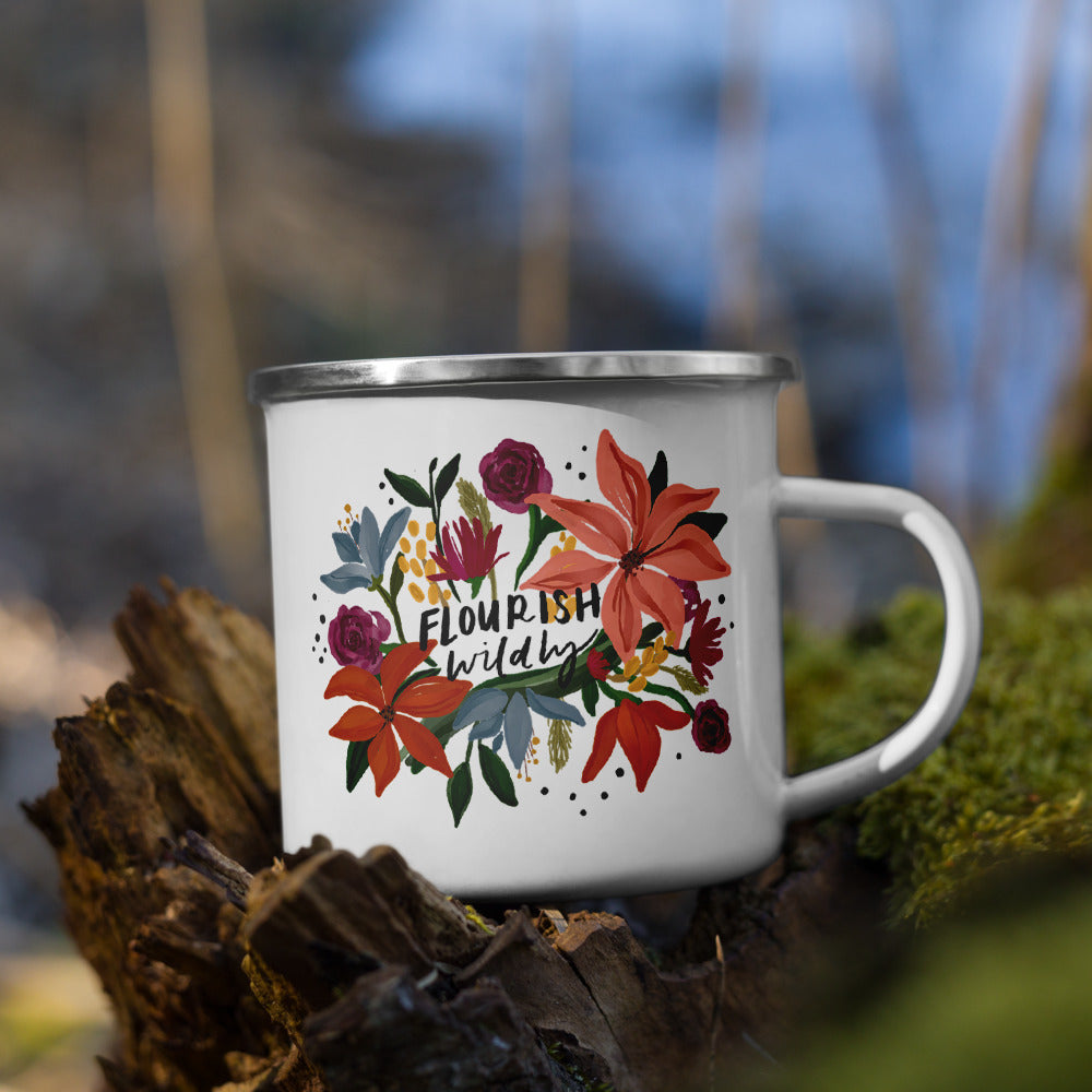 Flourish Wildly Enamel Mug