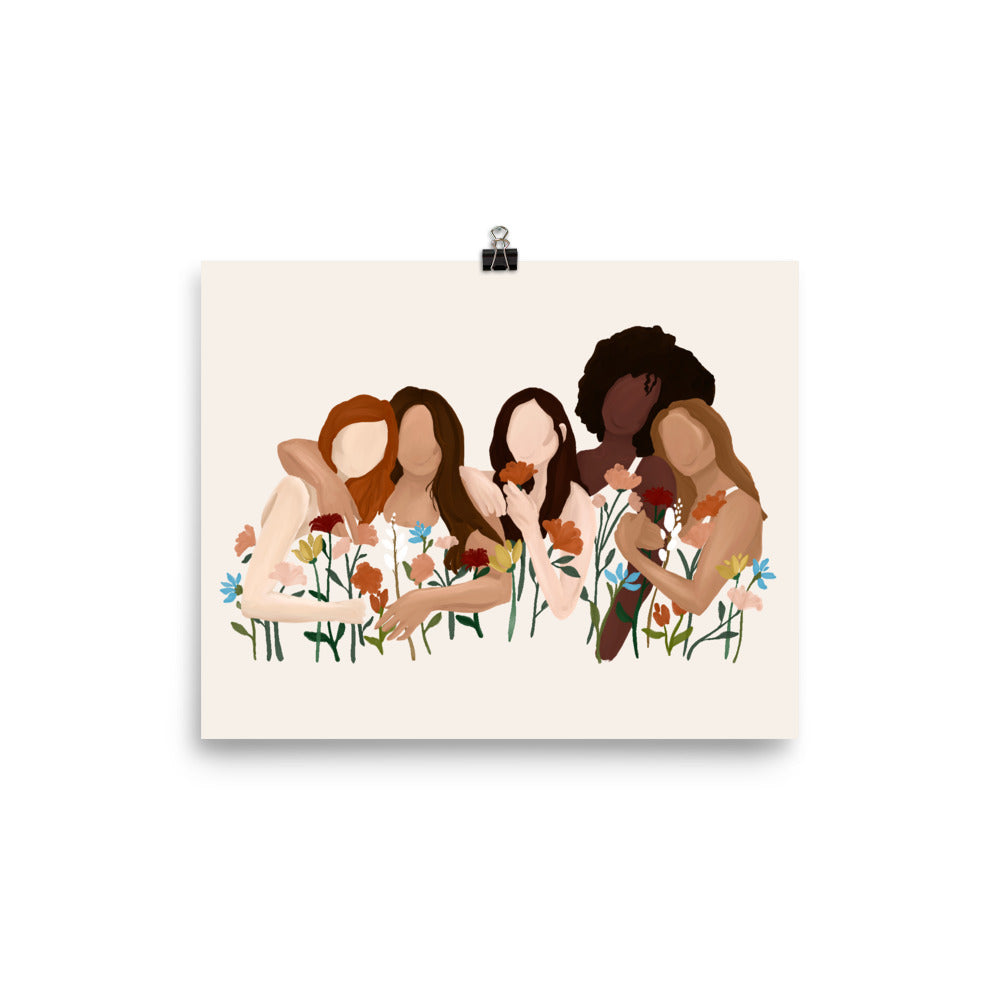 Growing Sisterhood Art Print