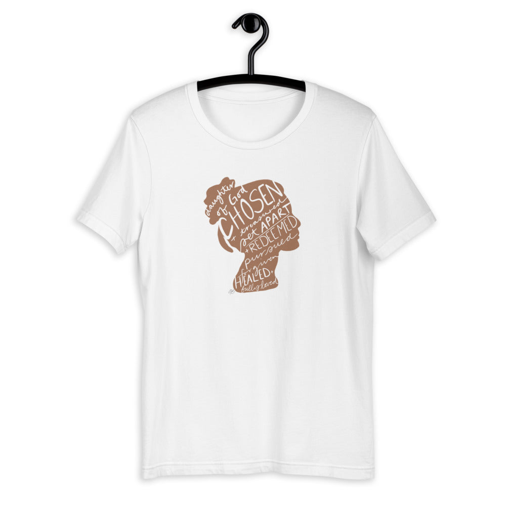 Chosen Crew Neck T-Shirt- Tan Design - Aisha Branch Studio Shop