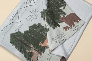 Forest Surrounded By Prayer Baby Blanket - Aisha Branch Studio Shop