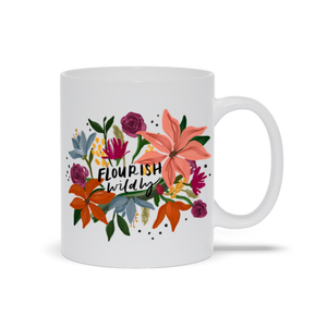 Open image in slideshow, Flourish Wildly Mug