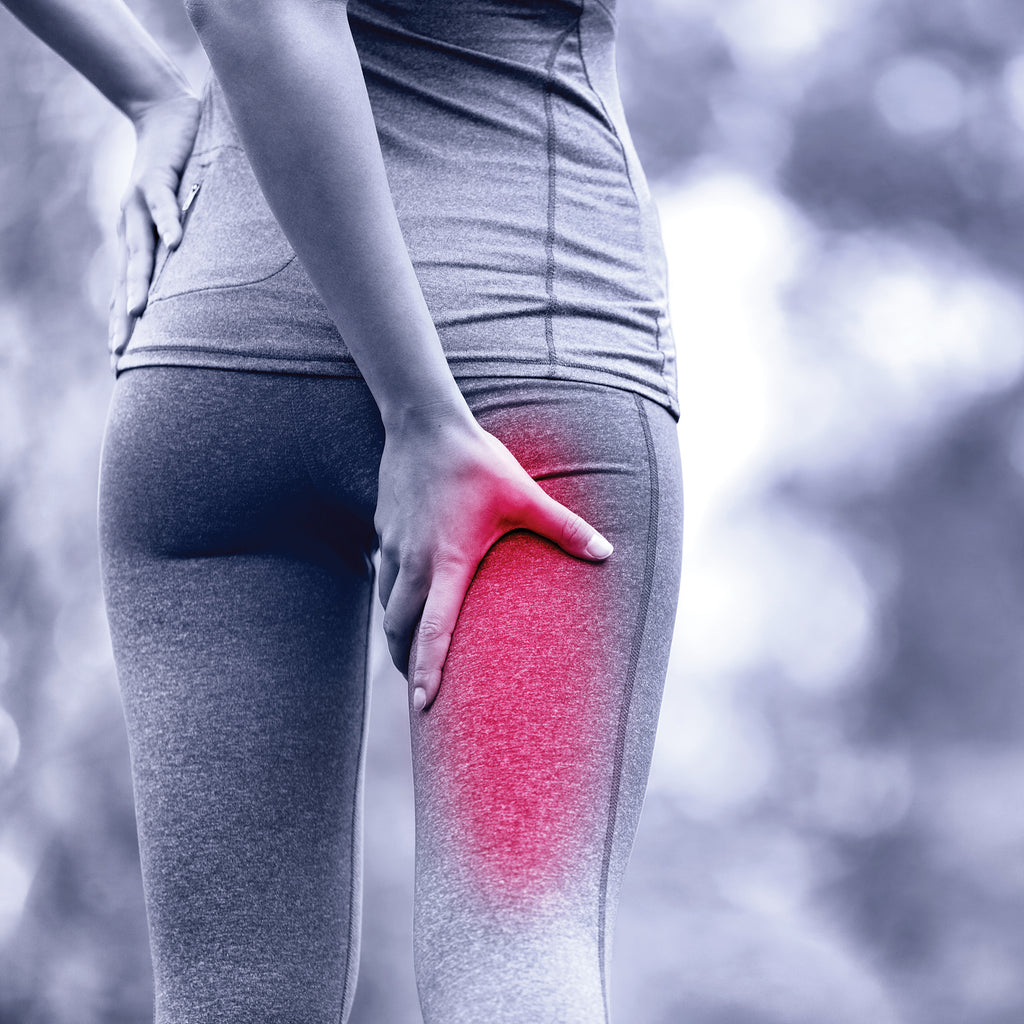 woman with thigh pain