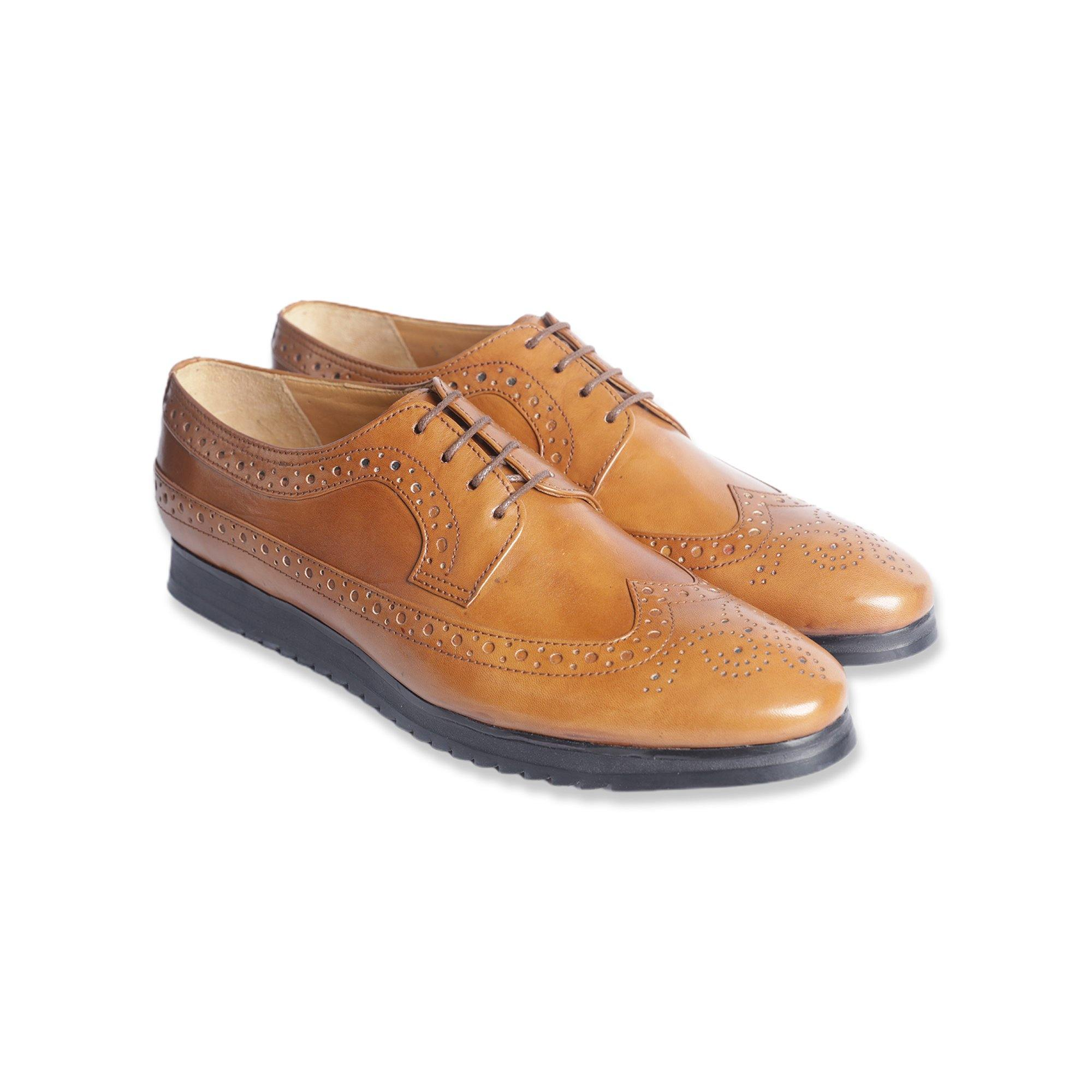 Hybrid 2 - Hybrid Dress Shoes in Khaki - TLC - The Leather Crafts