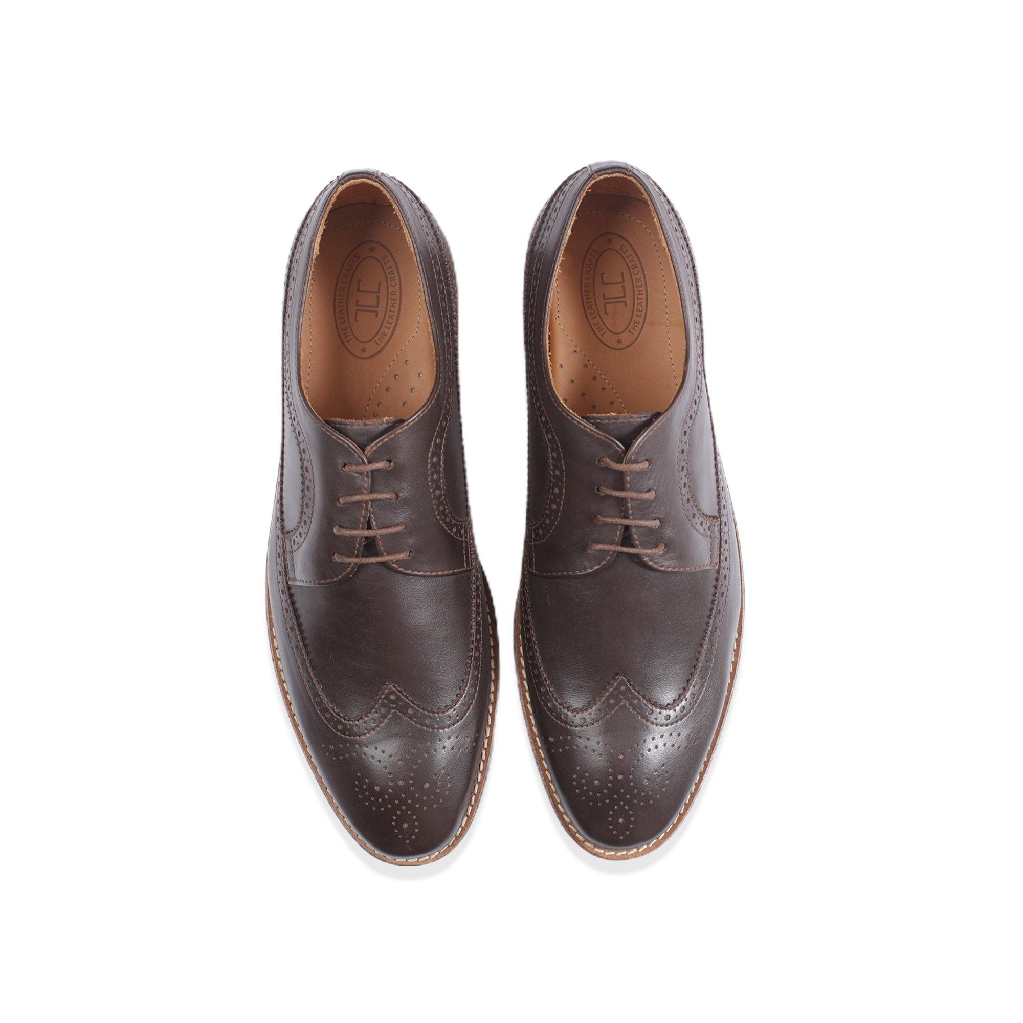 Casa - Wingtip Derby in Tobacco - TLC - The Leather Crafts