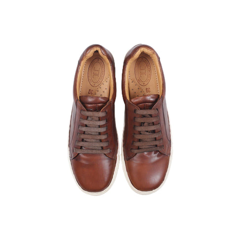 Royale - Low Top Sneakers in Tobacco Brown - TLC - The Leather Crafts