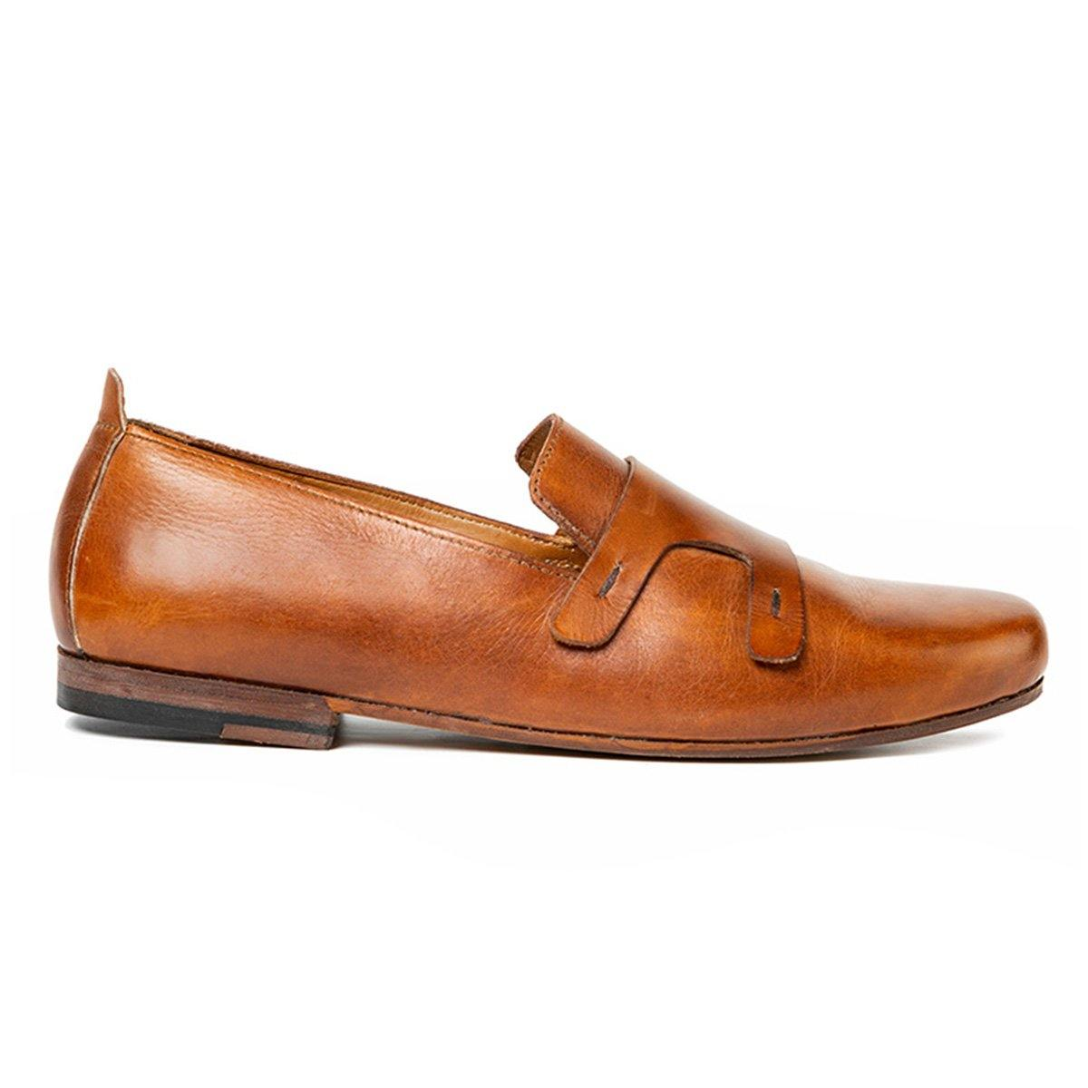 Oslo - Double Strap Loafers in Tan - TLC - The Leather Crafts