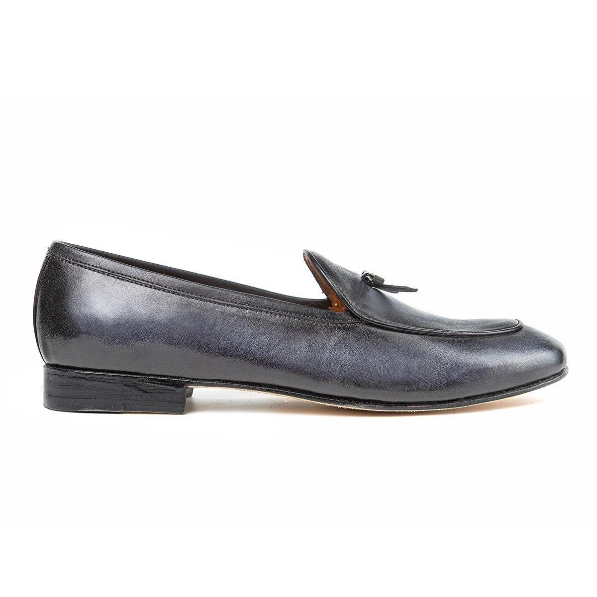 Mayfair - Belgian Loafers in Grey - TLC - The Leather Crafts