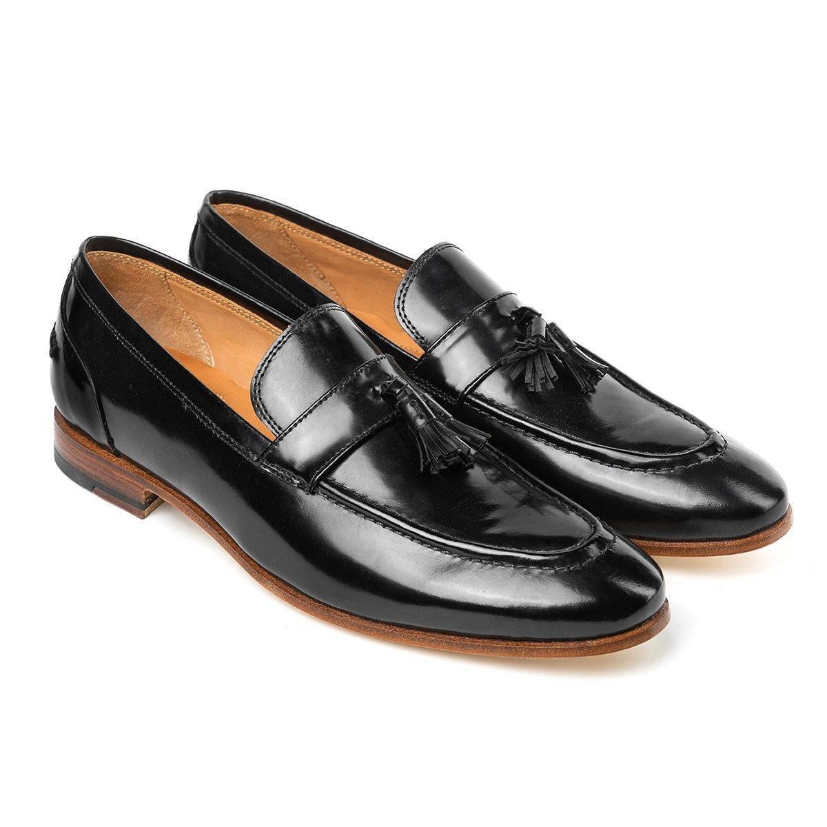 Steven - Tassel Loafers in Black Boxcalf - TLC - The Leather Crafts