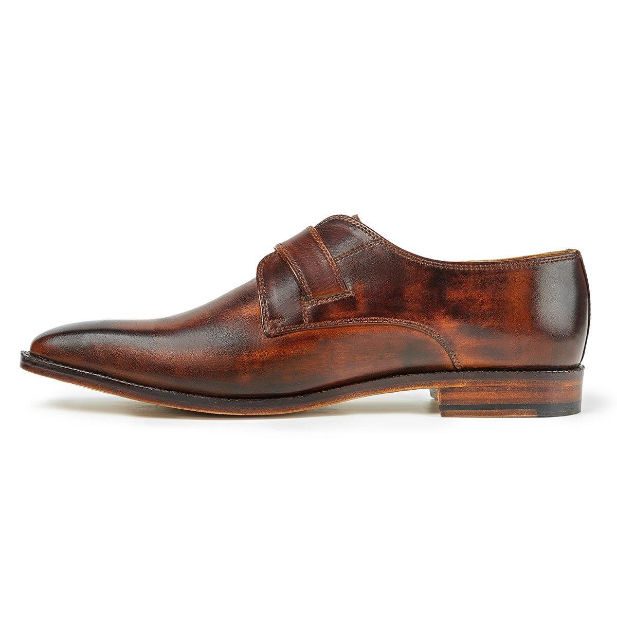 Vincent  - Single Monk Strap in Tobacco - TLC - The Leather Crafts