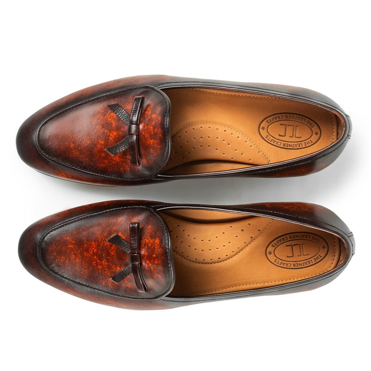 Mayfair - Belgian Loafers in Cognac - TLC - The Leather Crafts