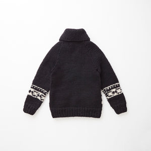 e&c.53f Lily Zip Up Sweater (Black)