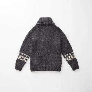 e&c.53g Lily Zip Up Sweater (Charcoal)