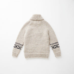 e&c.53h Lily Zip Up Sweater Tricolor (Light Gray)