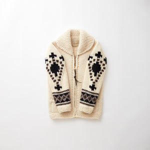 e&c.66 Cross Zip Up Sweater (Ivory)