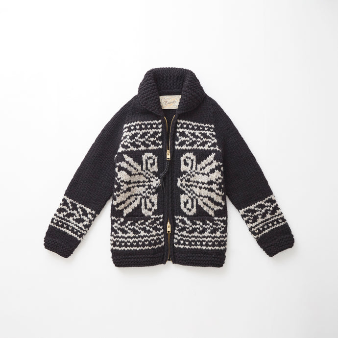e&c.84b Lithuanian Lily Zip Up (Black)