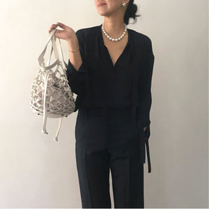 【予約販売】multi-way mesh bag mini [Cream × Cream]