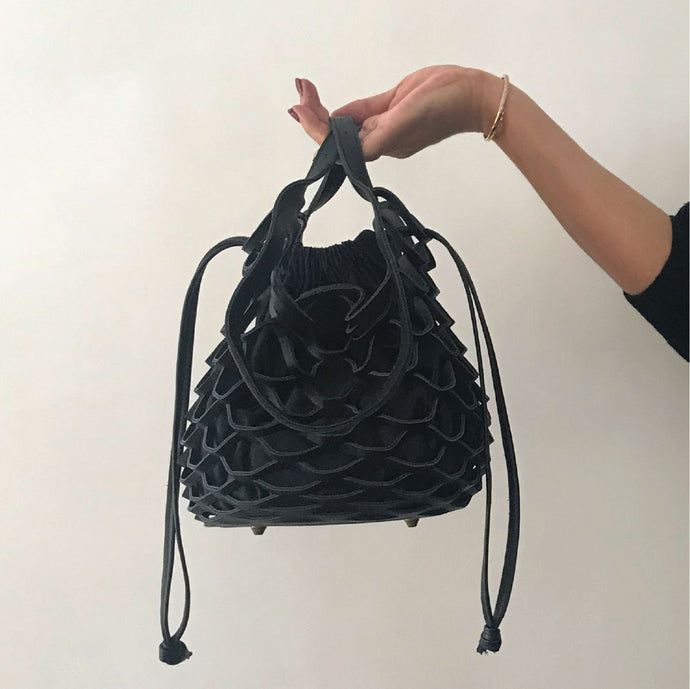 【再入荷】multi-way mesh bag mini [Black × Dark Navy]