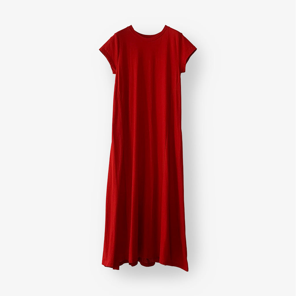 Backdrape Dress (Red)