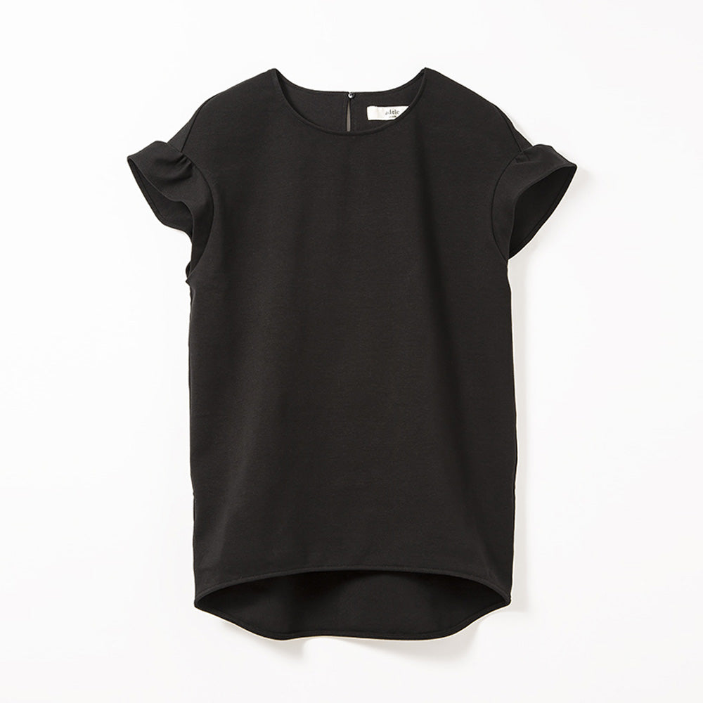 Frill Sleeve Tops (Black)