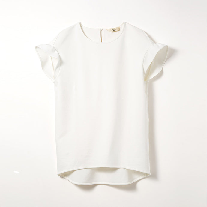Frill Sleeve Tops (Off-white)