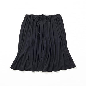 Knee Length Flare Skirt (Black)