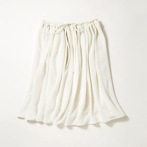 Knee Length Flare Skirt (Off-White)