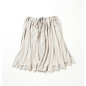 Knee Length Flare Skirt (Pale Gray)