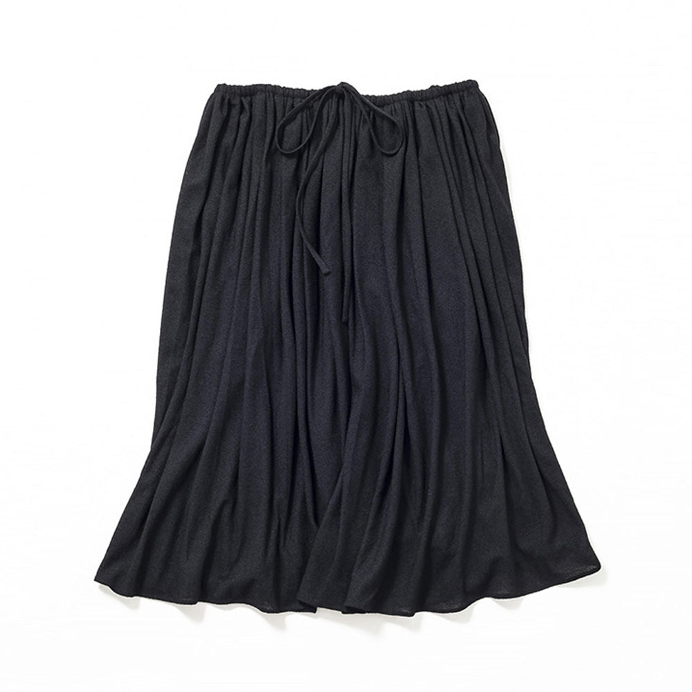 Medium Length Flare Skirt (Black)