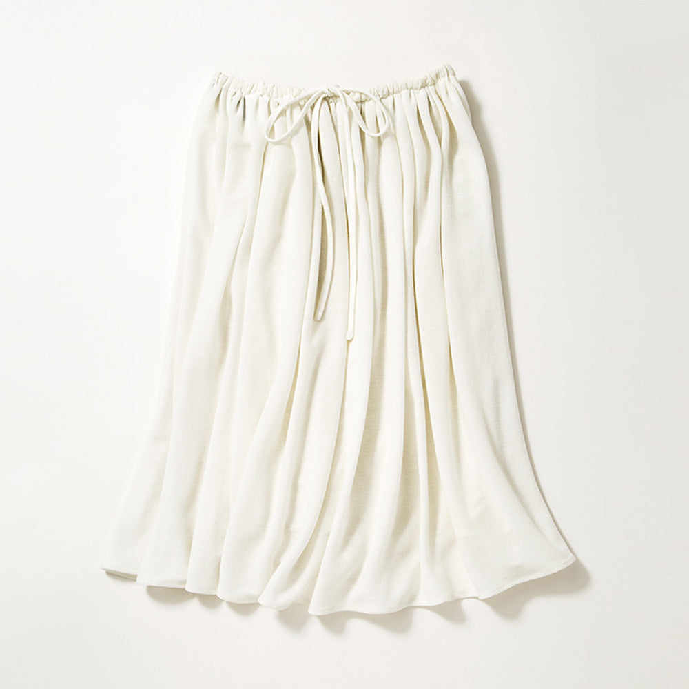 Medium Length Flare Skirt (Off-white)