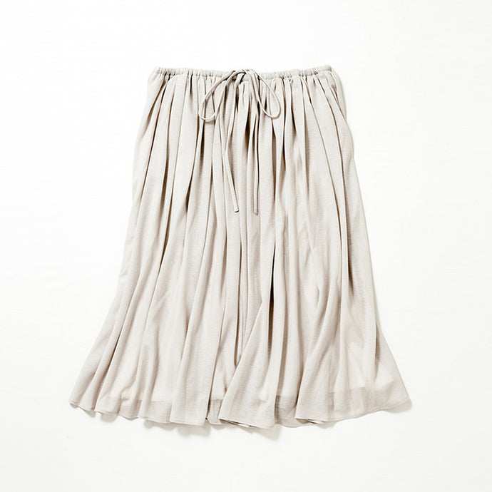 Medium Length Flare Skirt (Pale Gray)